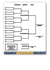64 Team Single Seeded Tournament Brackets - Cornhole